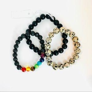 🧿Healing Stones Bracelet Trio🧿